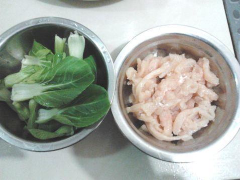鸡柳肉炒油菜心的做法大全
