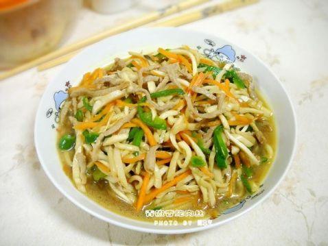 青椒杏鲍肉丝怎样煮