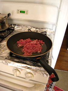 肉丝甜椒烧茄子的家常做法