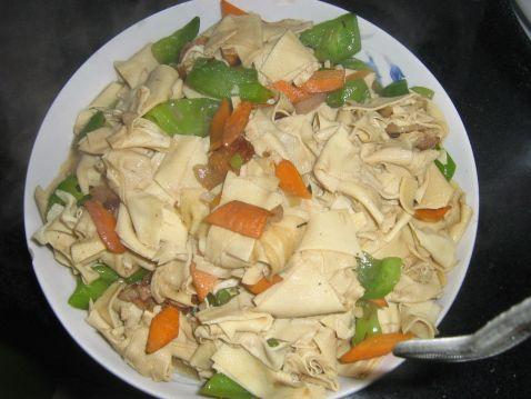 豆腐皮小炒怎么吃