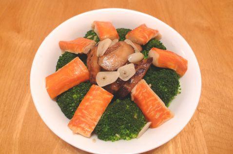 香菇蟹柳西兰花怎么煮