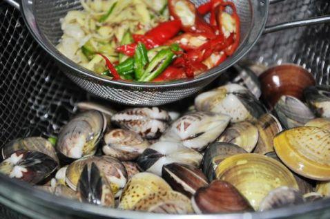 辣味花蛤的做法大全