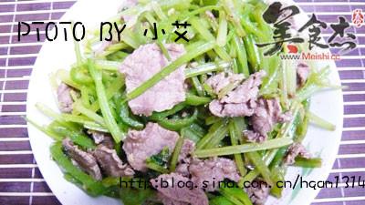 芹菜炒牛肉的做法大全