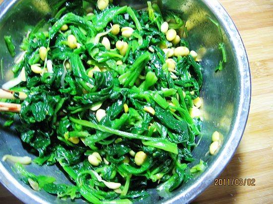 黄豆芽菠菜塔的简单做法