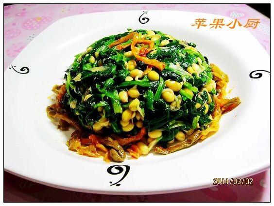 黄豆芽菠菜塔怎么煮