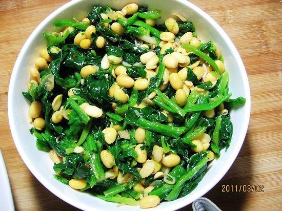 黄豆芽菠菜塔怎么吃