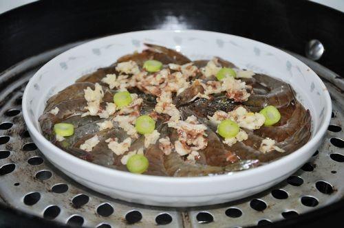 蒜梅明虾怎么吃