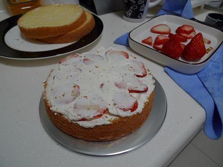 草莓蛋糕的制作