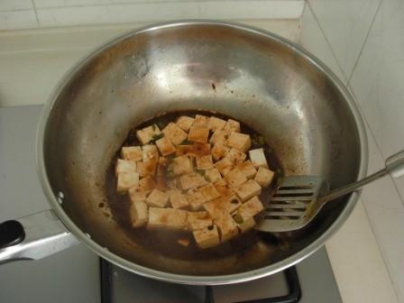 豆瓣酱炒豆腐的简单做法