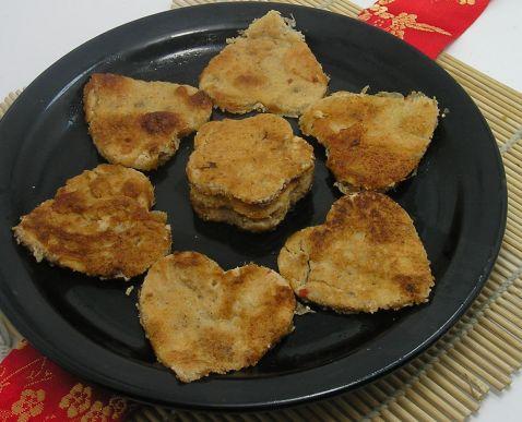 辣白菜鱼籽饼怎么做