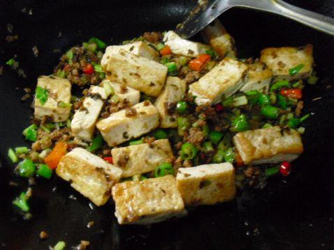 芽菜肉末豆腐的简单做法