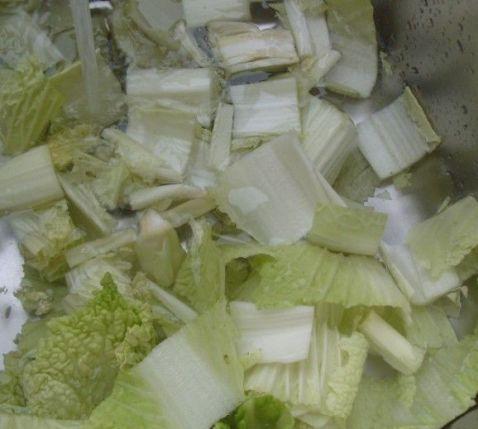 白菜炒粉丝的简单做法