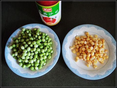 豌豆玉米番茄烩的做法图解