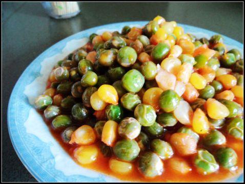 豌豆玉米番茄烩怎么煮