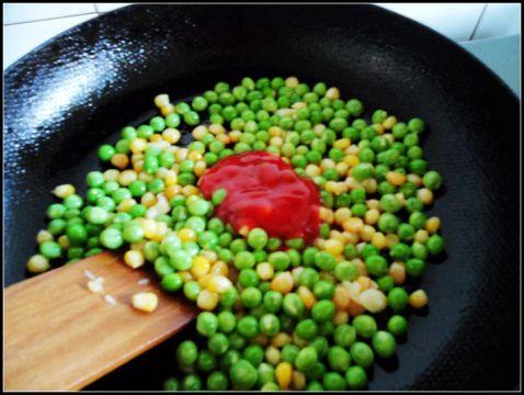 豌豆玉米番茄烩怎么炒