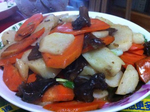 胡萝卜炒山药怎么煮
