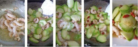 西葫芦炒虾仁的做法图解