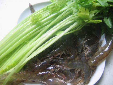 香芹基围虾的做法大全