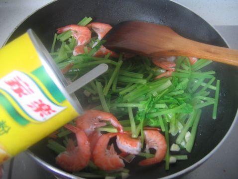香芹基围虾怎么做