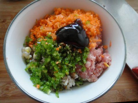 猪肉香菇玉米粒儿蒸饺的简单做法