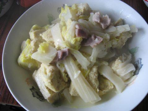 冻豆腐炖白菜怎么炒
