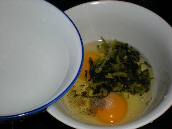 雪菜涨蛋的简单做法