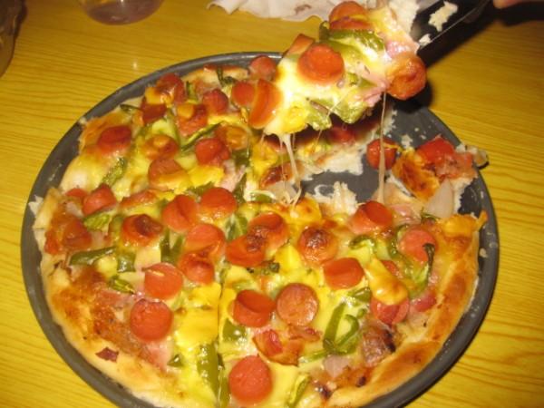培根火腿披萨的制作方法