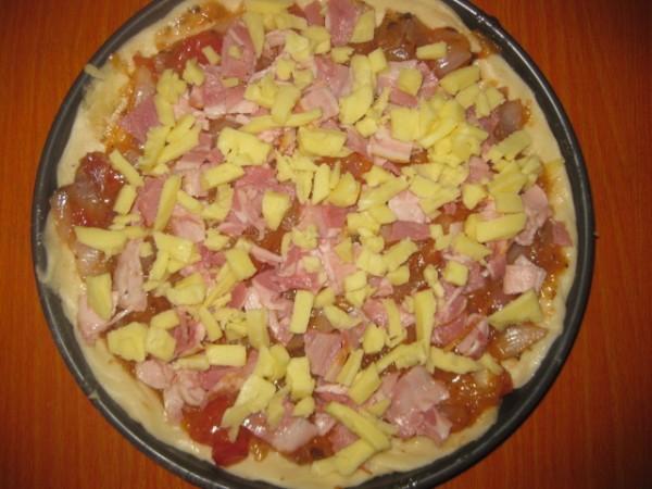 培根火腿披萨怎样炒