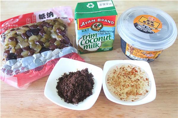 椰浆蜜豆龟苓膏的做法大全