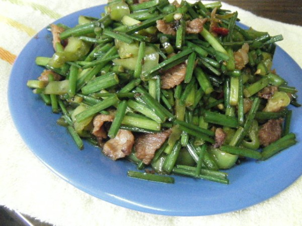 炒韭菜苔怎么吃