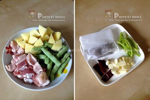 土豆五花肉炖豆角的做法图解