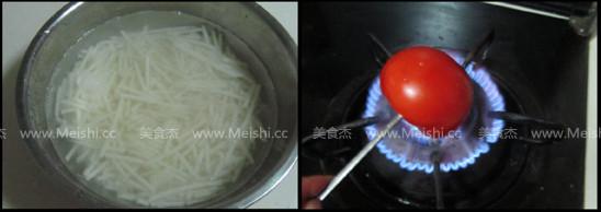 西红柿鸡蛋山药面的家常做法