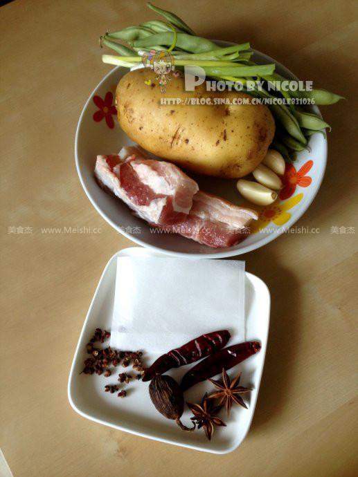 土豆五花肉炖豆角的做法大全