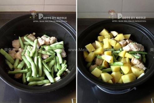 土豆五花肉炖豆角怎么吃