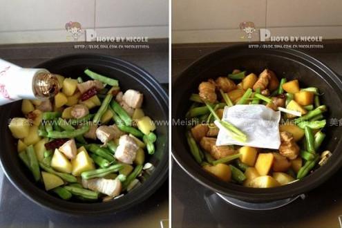 土豆五花肉炖豆角怎么做