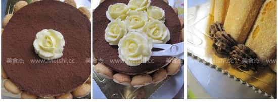 裱花版提拉米苏蛋糕的简单做法