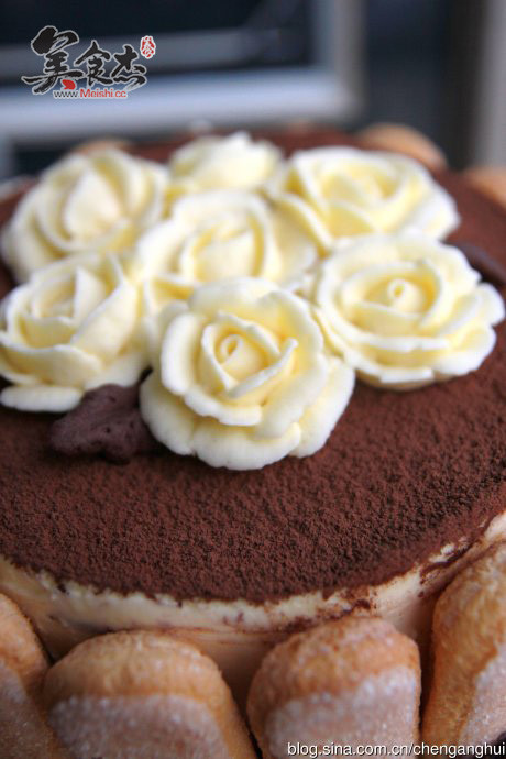 裱花版提拉米苏蛋糕怎么做
