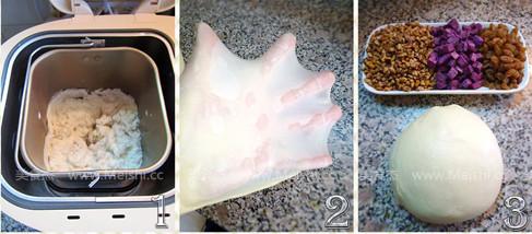核桃紫薯葡萄干面包的做法大全