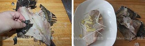 金银蒜蒸蝶鱼的做法图解