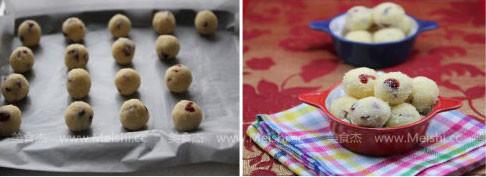 蔓越莓花生椰丝球的家常做法