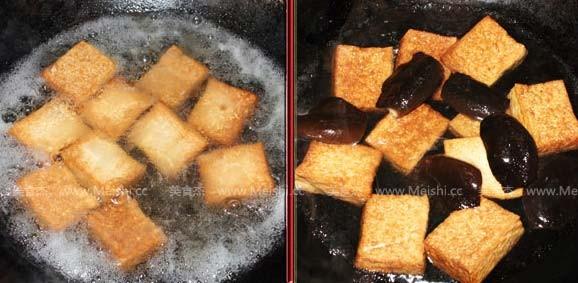 北菇烧豆腐的简单做法