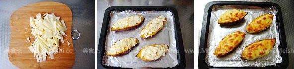 奶酪焗红薯的家常做法