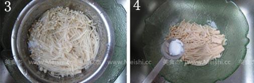 白灼金针菇的做法图解