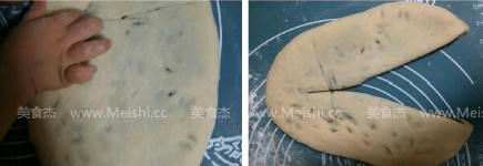 葡萄干豆沙面包卷的做法图解