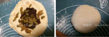 葡萄干豆沙面包卷的做法大全