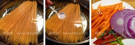 黑椒牛柳炒意粉的做法大全