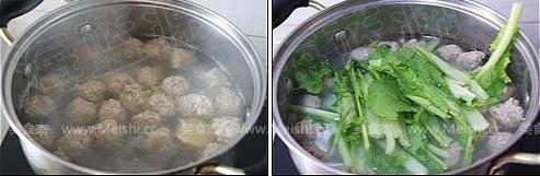 小白菜丸子汤怎么吃