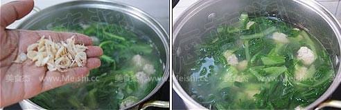 小白菜丸子汤怎么做