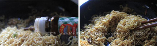 三鲜拌炒方便面的家常做法