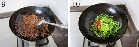 牛肉炒蒜苔怎么吃